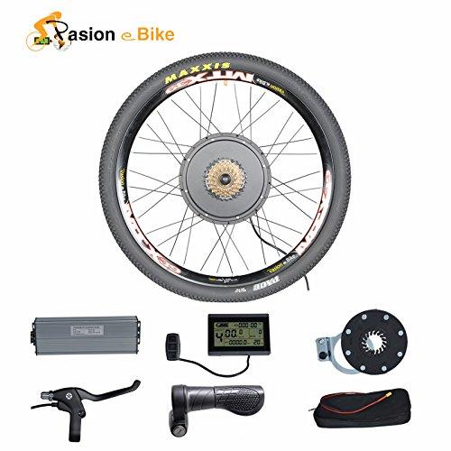 "Passion eBike 48V 1500W Motor Bicicleta Electric Bicycle Bike Conversion Kit for 26"" Rear Wheel"