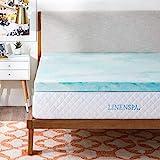 Linenspa 3 Inch Gel Swirl Memory Foam Topper - Queen