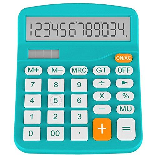 Helect H1001B-Calculator-BL Standard Function Desktop Calculator, Blue