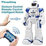 Smart Robot Toys Commande de geste Threeking et cadeau de robot télécommandé pour les garçons, les enfants, les compagnons: Jeu, apprentissage de la musique, de la danse, etc. Kit de robot intelligent rechargeable