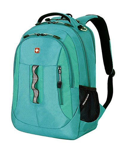 Swiss Gear SA5965 Laptop Computer Tablet Notebook Backpack - for School, Travel, Carry On Luggage, Women, Men, Student, Professional Use - Teal, 19 Inches