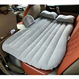 HAITRAL Portable Travel Camping Inflatable Air Mattress with Pillow Fits Most Car Models for Camping Travel and Car, Flitaing Bed, Floating Bed (Black,Gray,Blue,Beige)