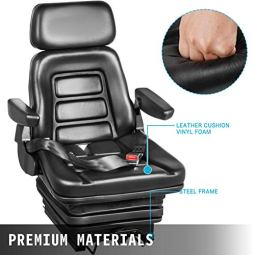 VEVOR-Suspension-Seat-With-Safety-Switch-Adjustable-Forklift-Seat-Replacement-Back-Fork-Lift-Seats-for-Tractor-Forklift-Suspension-Tractor-Seats-and-Backhoe-Seat-with-Seat-Belt