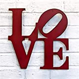 LOVE Metal Wall Art - Choose your size - 8x8, 11x11, 17x17, 24x24 or 36x36 inch tall - Choose LOVE, HOME, HOPE or AMOR sign - Choose your Patina Color
