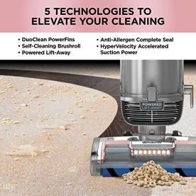 Shark-AZ2002-Vertex-DuoClean-PowerFins-Upright-Vacuum-with-Powered-Lift-Away-Self-Cleaning-Brushroll-and-HEPA-Filter-1-Quart-Dust-Cup-Capacity-Rose-Gold