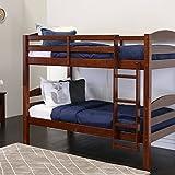 Walker Edison AZWSTOTES Wesley Wood Bunk Bed, Twin, Espresso