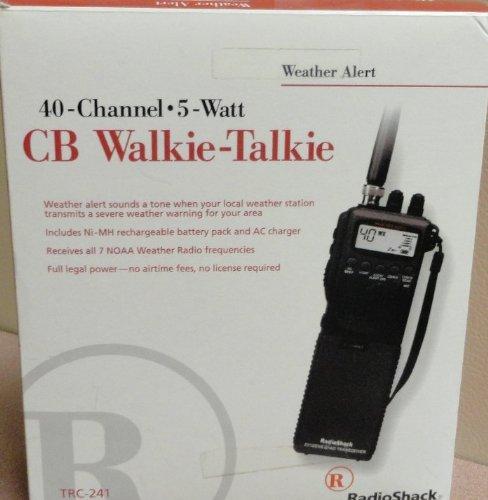 40 Channel 5 Watt CB Walkie Talkie TRC 241 From Radio Shack