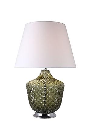 Lampada Da Tavolo In Vetro Colorato Verde Stile Classico