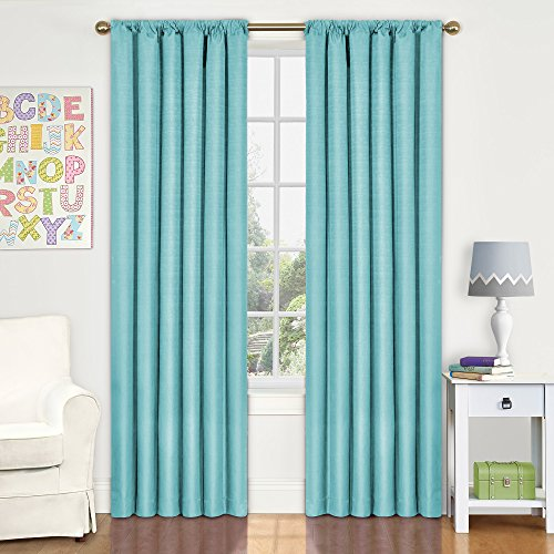 Eclipse Kids Kendall Blackout Window Curtain Panel, 42 by 63-Inch, Pool