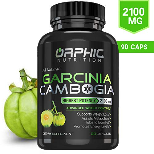 100% Pure Garcinia Cambogia Extract 95% HCA, 2100 mg Capsules | Appetite Suppressant | Non-Stimulating | Weight Loss Pills, Burn Fat & Boost Metabolism, Highest Potency Diet Pills for Men & Women