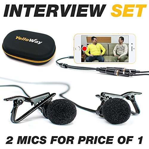 Dual-Lavalier-Microphone-Interview-Microphone-2-Podcast-Microphone-Pack-2-Lavalier-Lapel-Microphones-Set