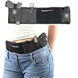 ComfortTac Ultimate Belly Band Holster for Concealed Carry   Black   Fits Gun Smith and Wesson Bodyguard, Glock 19, 42, 43, P238, Ruger LCP, and Similar Sized Guns   for Men and Women (Left)