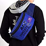 Large Fanny Pack Water Resistant Waist Packs Fashion Sling Bag (Deep Blue)