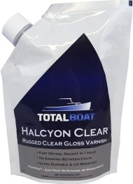 best treatment for outdoor wood furniture finish - TotalBoat Halcyon Marine Varnish