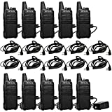 Retevis RT22 Two Way Radio FRS UHF 16 CH Vox Handsfree Alarm Busy Channel Lock Business Walkie Talkies with Antidrop 2 Pin Earpiece(10 Pack)
