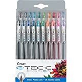 PILOT G-Tec-C Gel Ink Rolling Ball Pens, Ultra Fine Point (0.4mm), Assorted Color Inks, 20-Pack (35491)