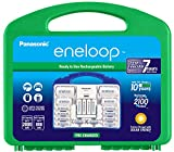 "Panasonic K-KJ17MC124A eneloop Super Power Pack 12AA, 4AAA, 2 C Adapters, 2 D Adapters, ""Advanced"" Individual Battery Charger and Plastic Storage, (Case Color May Vary)"