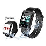 Smart Watch for Android and iOS Phones with Heart Rate and Blood Pressure Monitoring, Sleep Monitoring, Information Alerting & Motion Monitoring Waterproof Fitness Tracker for Men, Women and Children