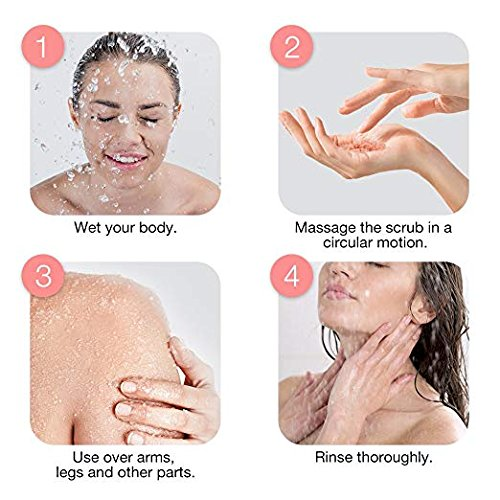 Pure Himalayan Pink Salt Body Scrub Wash With Exfoliate For Soft, Healthy Skin, Massaging For Sore Muscles & Skin Imperfection 12 oz 7