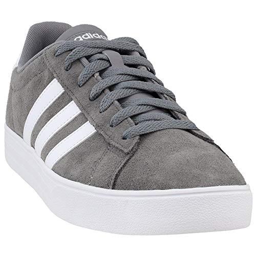 adidas Men's Daily 2.0 Sneaker, Grey Three White, 10.5 M US