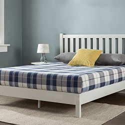 ZINUS Wen Wood Deluxe Platform Bed Frame with Headboard / Solid Wood Foundation / Wood Slat Support / No Box Spring…