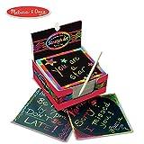 Melissa & Doug Scratch Art Box of Rainbow Mini Notes, Arts & Crafts, Wooden Stylus, 125 Count, 3.75' H x 3.75' W x 1.75' L