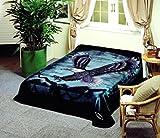 Korean Solaron Super Thick Mink Blanket Twin Size 63' x 87' Black Eagle BM118