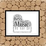 Les Connie Piano Print Piano Word Collage Piano Word Art Gift for Pianist Gift for Music Teacher Gift for Piano Player Personalised Piano Print
