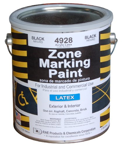 RAE 4928-01 Black Latex Zone Marking Paint 1-Gallon