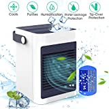 DOUHE Air Cooler with Ice Tray, Mini Portable Air Conditioner Fan Personal Noiseless Evaporative Air Humidifier for Home Room Office Desktop Nightstand White
