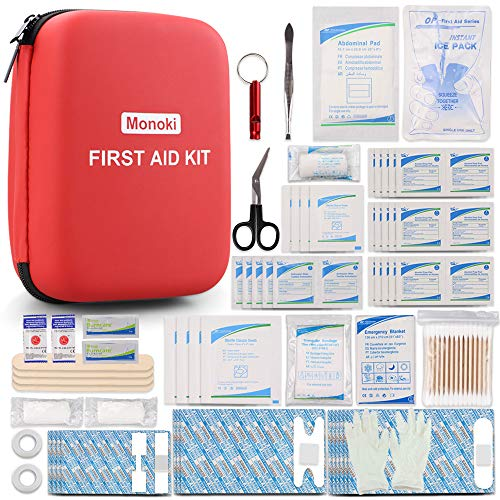 Monoki-First-Aid-Kit-201-Pcs-Emergency-Medical-Supplies-Safety-First-Aid-Kit-for-Home-Office-School-Car-Boat-Travel