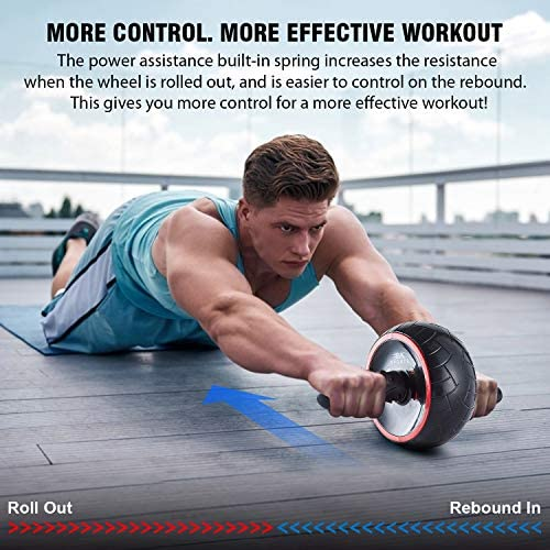 BK Sports Ab Roller Wheel for Abs Workout – Ab Roller Wheel Abdominal Exercise Equipment – Train at Home Like a Professional 2020 New 9