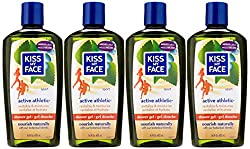 Kiss My Face Active Athletic Birch & Eucalyptus Reviving Moisturizing Shower Gel, Bath and Body Wash, 16 oz (Pack of 3)  Image 2