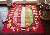 New! '8x10' Feet New Kids Boys Children Toddler Playroom Nursery Room Bedroom Fun Educational Game School ABC Alphabet Toys Area Rug Carpet Colorful Decorative Designer Sale (Red ABC)