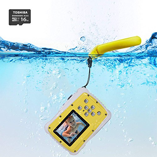 Waterproof Camera for Kids,LELEKEY 12MP HD Mini Underwater Action Camera Camcorder with 2 Inch LCD 9.9 Ft Waterproof Starter Camera Including Float Strap and 16GB Memory Card