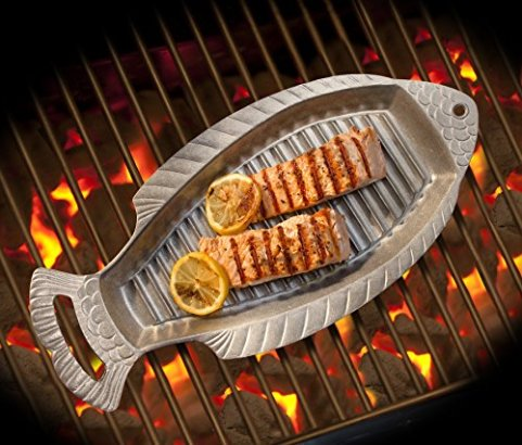 Wilton-Armetale-Gourmet-Grillware-Grilling-Pan-with-Handles-1825-Inch