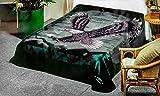 Korean Solaron Super Thick Mink Blanket Twin Size 63' x 87' Green Eagle BM118