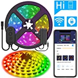 DreamColor 16.4ft LED Strip Lights, MINGER WiFi Wireless Smart Phone Controlled Light Strip 5050 LED Lights Sync to Music, Work with Amazon Alexa, Google Assistant Android iOS (Not Support 5G WiFi)