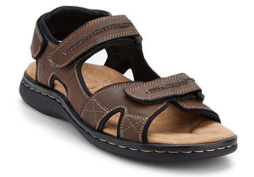 Dockers Men's Newpage Leather Sporty Sandal