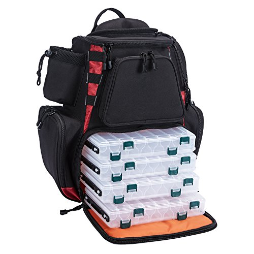 Piscifun Fishing Tackle Backpack with 4 Trays Large Capacity Waterproof...