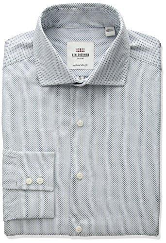 51o9EIK5mnL Slim fit Spread collar