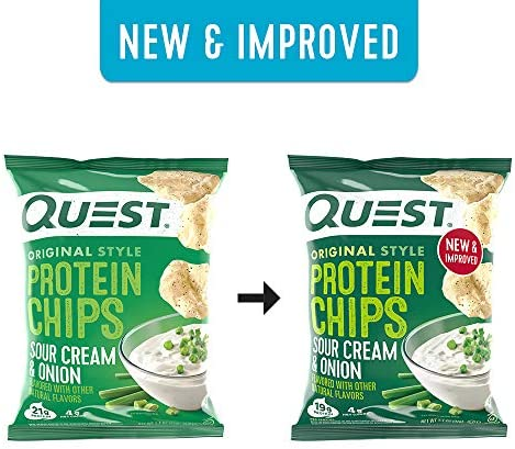 Quest Nutrition Protein Chips, Sour Cream & Onion, Pack of 12 10