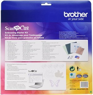 Brother ScanNCut Embossing Starter Kit , Accessory Set with Mat, Tools, Metal Sheets and 50 Embossing Patterns for DIY Cutting Machine