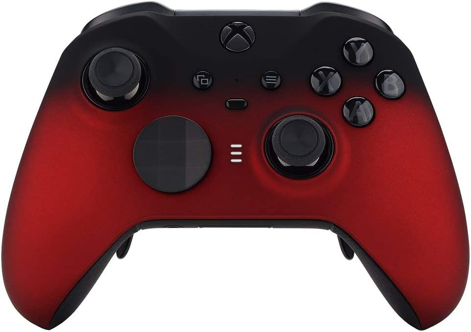 Manette personnalisée Un-MODDED Rouge Ombre Compatible avec Xbox One Elite Series 2 Soft Touch Finish
