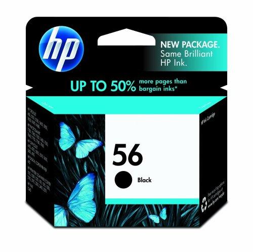 HP 56 Black Ink Cartridge (C6656AN) for HP Deskjet 450 5550 5650 5850 9650 9680 HP Officejet 4215 5610 6110 HP Photosmart 7260 7350 7450 7550 7755 7760 7762 7960 HP PSC 1210 1315 1350 2110 2175 2210