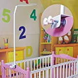 Pesp Universal Metal Adjustable Mosquito Net Stand Holder Clip-on Baby Bed Mosquito Net Mounting Support Ring Rack Stand Set Mosquito Net Accessories