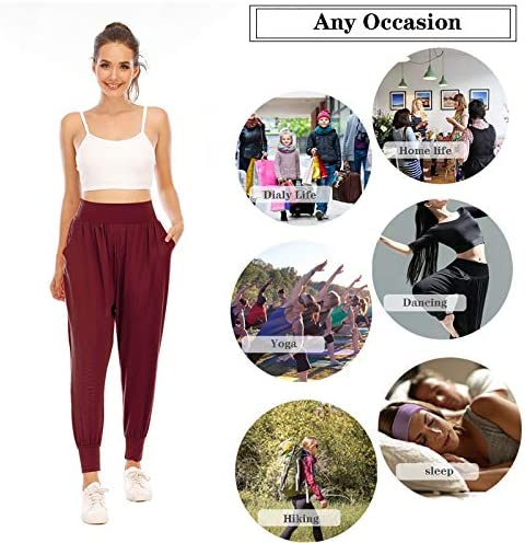 Zamowoty Womens Workout Sweatpants High Waist Yoga Joggers Running Pants Pajama Lounge Pants with Pockets 6
