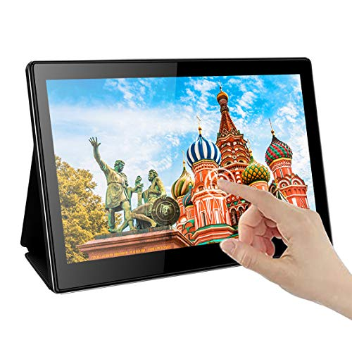 Portable USB C Touchscreen Monitor,EleDuino 13.3' inch 1920x1080 IPS Display,with USB-C & HDMI Inputs,HDR,PD Charge,Compatible with Laptops Mini PC Smartphone Gaming Consoles Nintendo Switch PS4 PS3 X