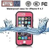 Redpepper-Waterproof Case for iPhone 6/6s 4.7 inch Screen SnowPrrof ShockProof DirtProof Case Cover (Pink)