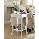 Convenience Concepts Designs2Go Ella End Table, White